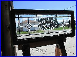 3 Piece Set Antique Beveled Etched Glass Transom Windows Architectural Salvage