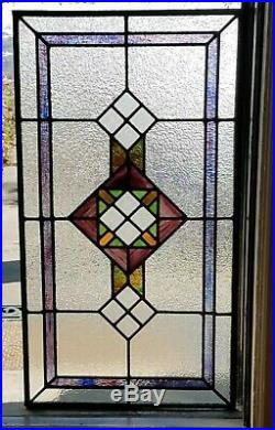 AMAZING STAINED GLASS WINDOW, for repurposing, COAL MINE BOSS HOUSE, 1904