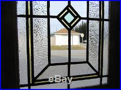 ANTIQUE AMERICAN STAINED GLASS DOOR 30 x 77 ARCHITECTURAL SALVAGE