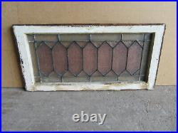 ANTIQUE STAINED GLASS TRANSOM WINDOW 31.5 x 16 ARCHITECTURAL SALVAGE
