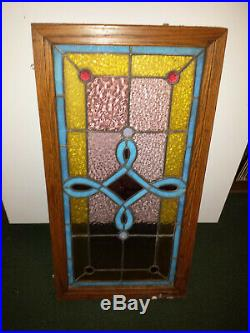 ANTIQUE VINTAGE STAINED GLASS Handcrafted
