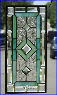 After the Storm 20 ½ x 10 ½Beveled Stained Glass Window Panel