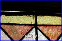 Antique 1890s Stained Glass with Ribbon Pattern, Architectural Salvage, Vintage