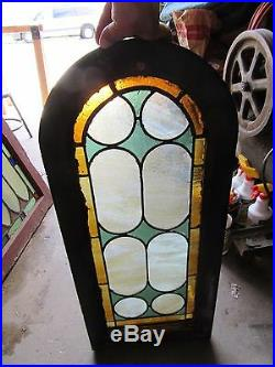 Antique American Stained Glass Window 15 X 34 Architectural Salvage