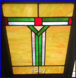 Antique Arts & Crafts Stained Leaded Glass Window from Chicago