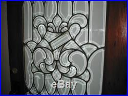 Antique Clear Leaded Glass (beveled) Door Ca. 1875