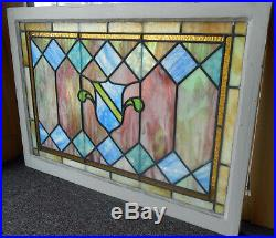 Antique Colorful Stained Glass Window