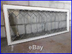 Antique Craftsman Style Leaded Glass Window Circa 1905 Architectural Salvage