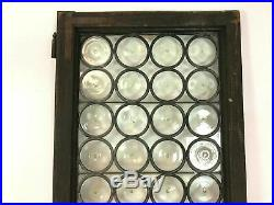 Antique French Leaded Stained Rondel Glass Window