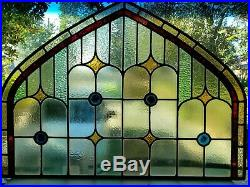 Antique Gothic English Stained Glass Window