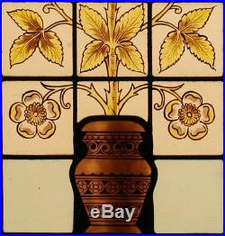 Antique Leaded Hand Painted STAINED GLASS Window We Can Ship Worldwide