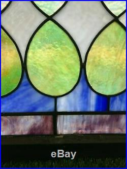 Antique Leaded Stained Glass Window 30 x 60