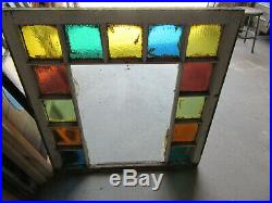 Antique Queen Anne Style Stained Glass Window 1 Of 2 34 X 35 Salvage