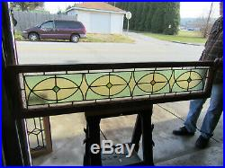 Antique Stained Glass Entryway Pocket Doors And Transom 66 X 98 Salvage