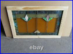 Antique Stained Glass Transom Window 36 X 23 Architectural Salvage