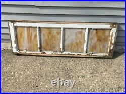 Antique Stained Glass Transom Window 40 by 14 Circa 1925
