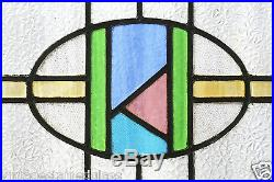 Antique Stained Glass Window Five (5) Color Craftsman Style (2949)