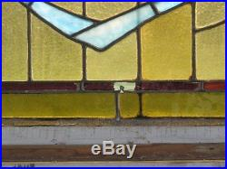 Architectural Salvage Antique English Stained Glass Transom Window 62