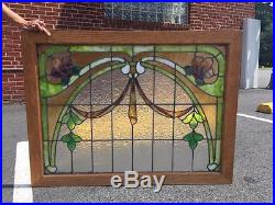 Beautiful American Antique Victorian Stained Glass Window Rd25