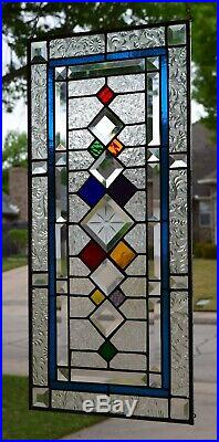 Beveled Stained Glass Transom Window #2