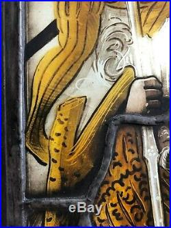 Dated 1517 Stained Armorial Glass Window Genuine Swiss Early 16th Century Rare