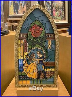 Disney World Parks Exclusive Beauty And The Beast Stained Glass Window Frame