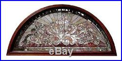 Entry Way with Stained Glass Panels & Transom #5756