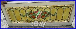 Fine Art & Crafts Double Jeweled Antique Stained Glass Window Estate # 61