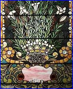Floral Stained Glass Window Authenticated As Tiffany By Bonham's Auction House