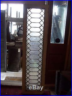 Geometrical beveled glass and textured glass window (SG 1578)