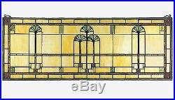 Ginkgo Stained Glass Window Arts and Crafts Movement 35 X 13 inches