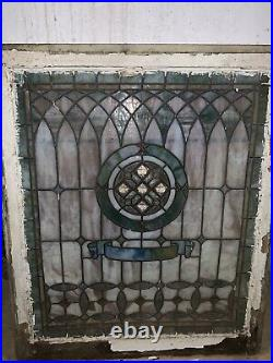 LATE 19TH CENTURY ORIGINAL INTACT Stained Glass Window