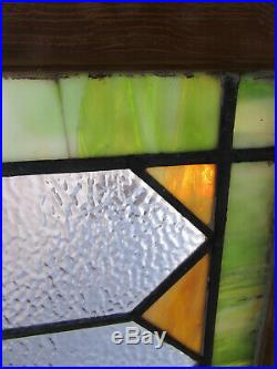 Large Antique Stained Glass Transom Window 49 X 25.5 Salvage