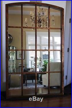 Large Arched Antique Window Mirror