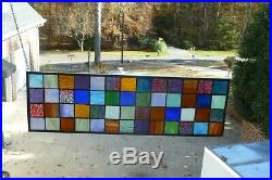 Large Patchwork Stained Glass Window Transom