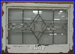 MIDSIZE OLD ENGLISH LEADED STAINED GLASS WINDOW Clear Textured 24 x 17