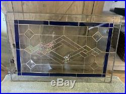 NEW 23-1/4 x 15-1/4 stained glass window panel hangs 2 ways