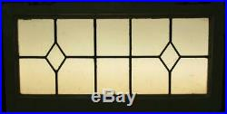 OLD ENGLISH LEADED STAINED GLASS WINDOW TRANSOM Double Diamond 31.5 x 16