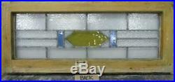 OLD ENGLISH LEADED STAINED GLASS WINDOW TRANSOM Simple Geometric Band 30 x 13