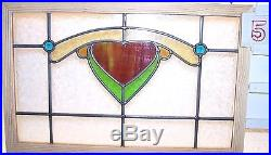 Old SASH! Vintage Leaded English stained glass window