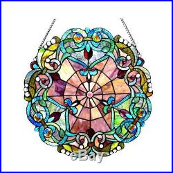 Stained Glass Chloe Lighting Victorian Window Panel 20 Diameter Handcrafted