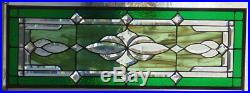 Stained Glass Transom window hanging 32 X 11 1/2