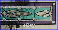 Stained Glass Transom window hanging 34 1/2 X 8