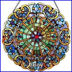 Stained Glass Webbed Heart 27-inch Window Panel M