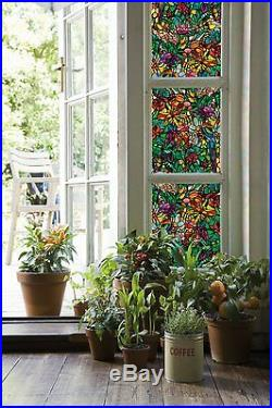 Stained Glass Window Film Shower Door Cabinet Privacy Filters Light Home Decor