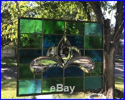 Stained Glass Window Panel Suncatcher withBevels apprx size 10 x 12