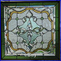 Stained Gl Window Hanging 27 1 2 Square