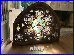 Stained galss church glass window arches