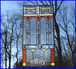 Stained glass Clear Beveled window panel FRANK LLOYD WRIGHT TREE OF LIFE1734