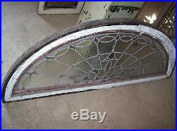Textured glass arched transom window with jewels (SG 1256)